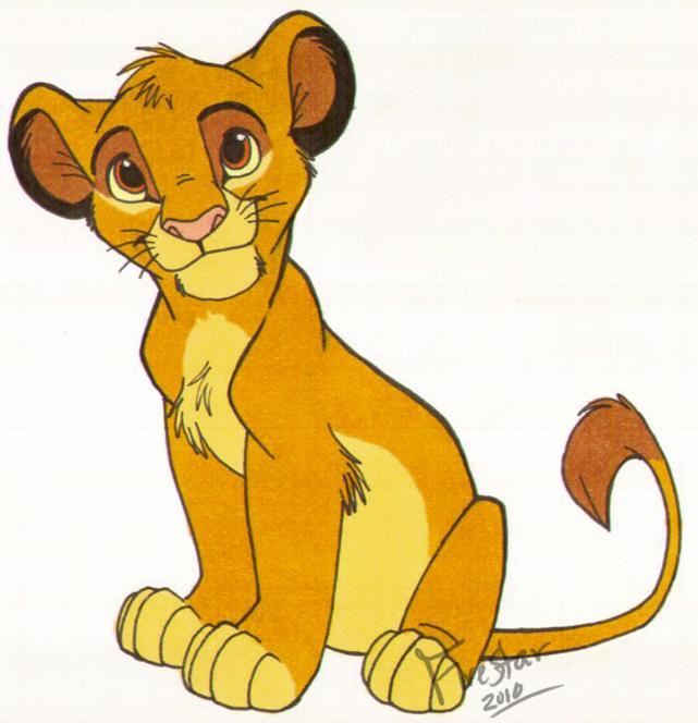 Lion king baby simba drawing