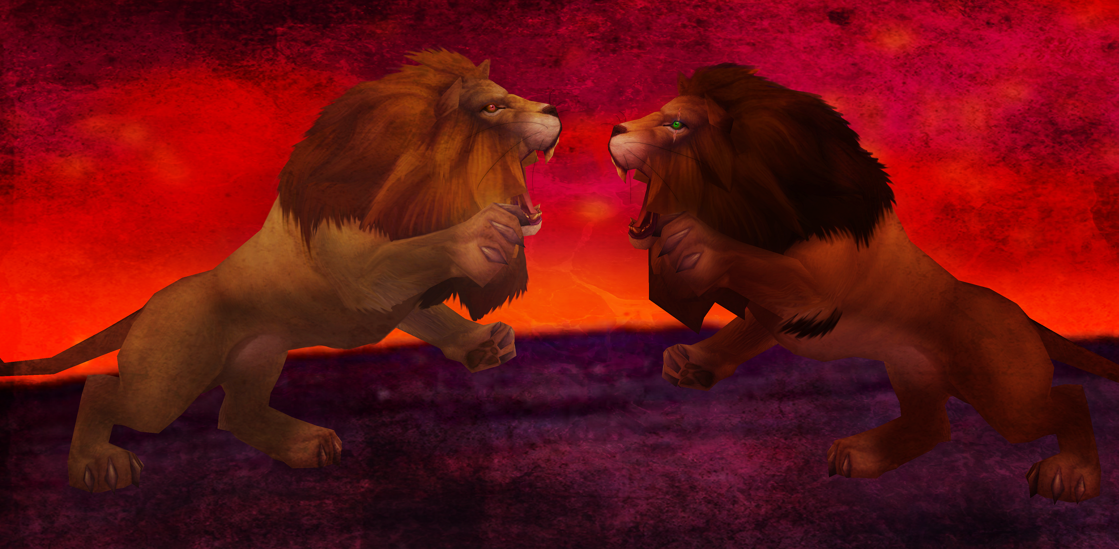 Simba vs Scar « Hilde T's Album — Fan Art Albums of My Lion King