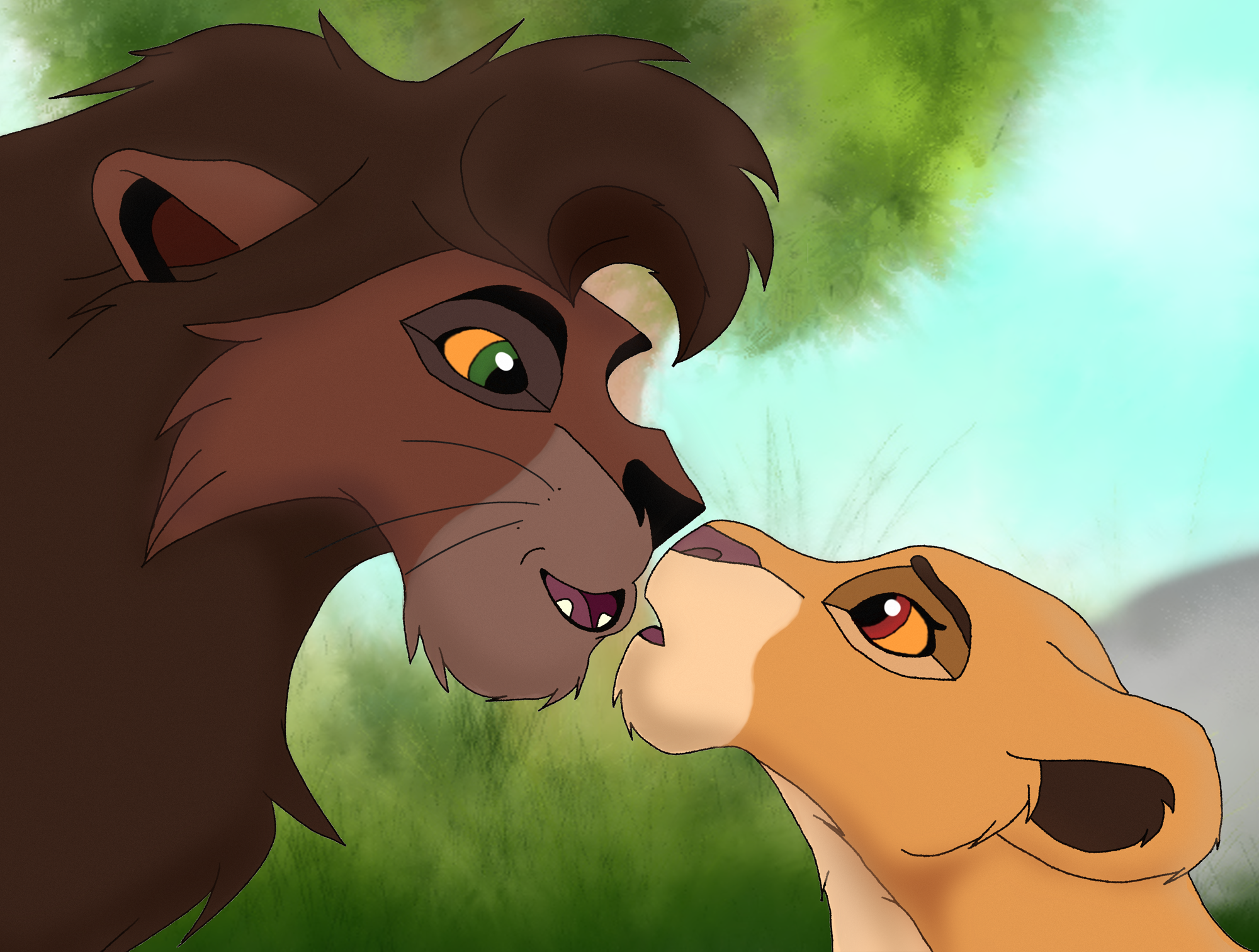 Kiara and Kovu « Hilde T's Album — Fan Art Albums of My ...