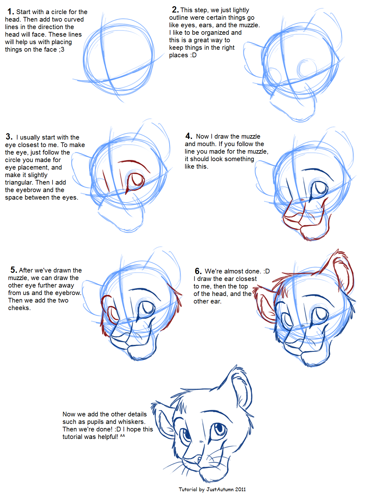 Drawing Lines With Php : How to draw head tutorial « justautumn s album — fan art