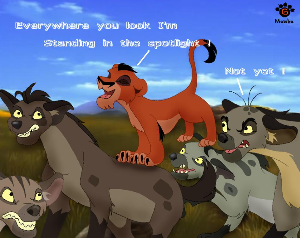 Hyenas in lion king