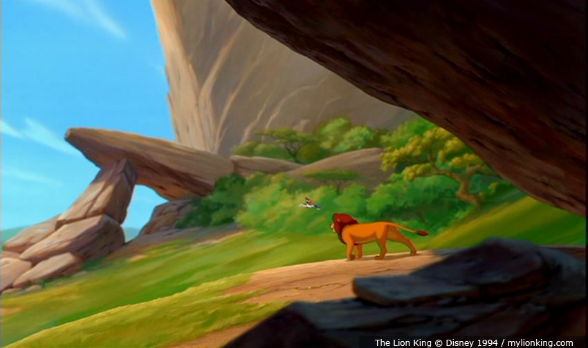 Lion king pride rock scene - photo#11