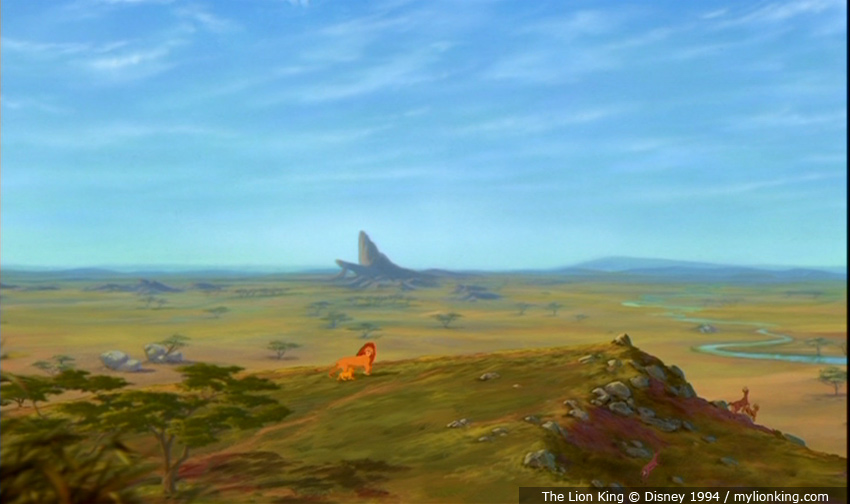 Lion king pride rock scene - photo#15