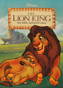 Simba and Kopa on the cover of The Lion King: Six New Adventures book collection.