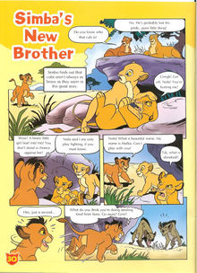 The first page of Simba's New Brother.